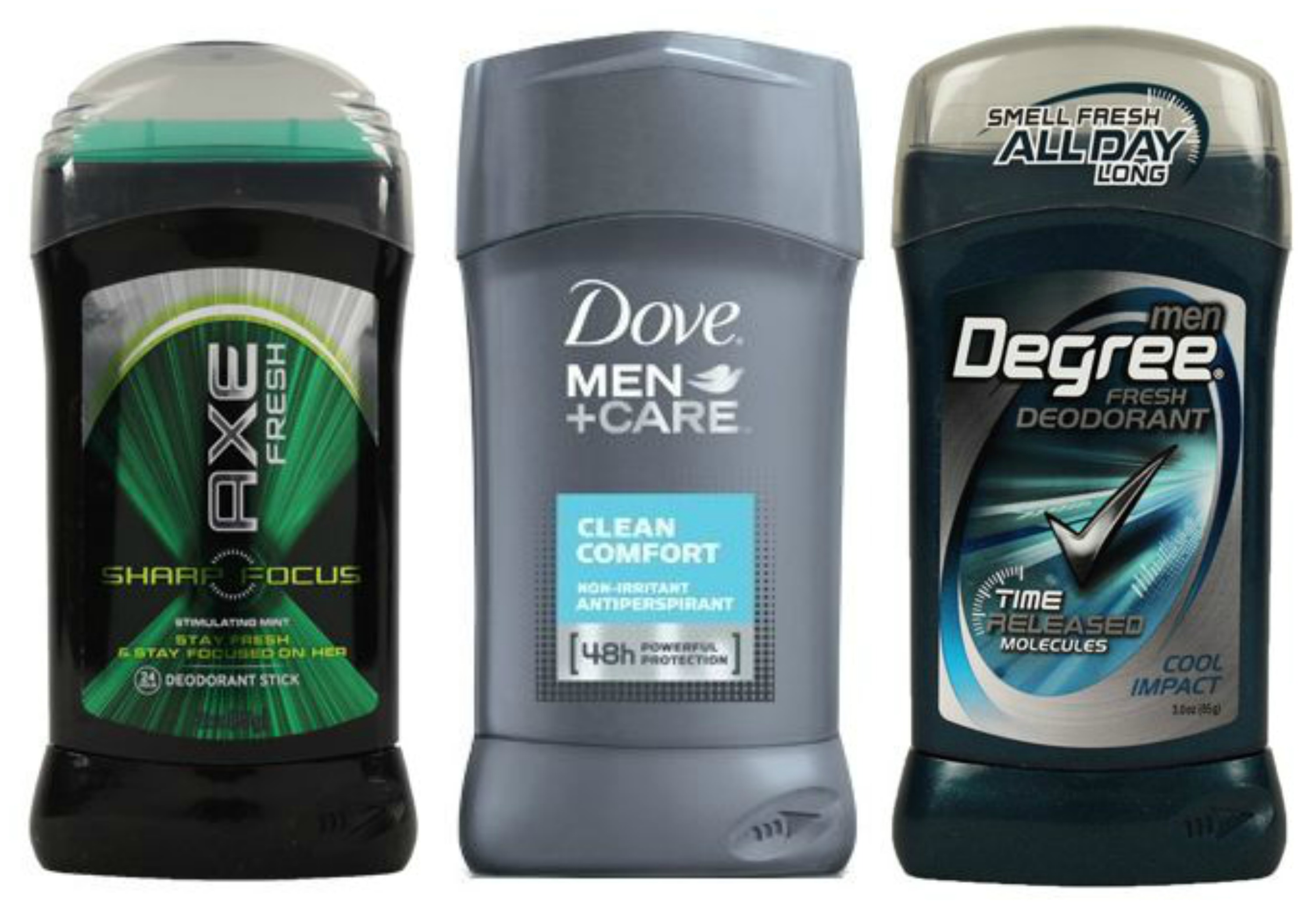 Axe, Dove & Degree Deodorant As Low As $0.33 Each