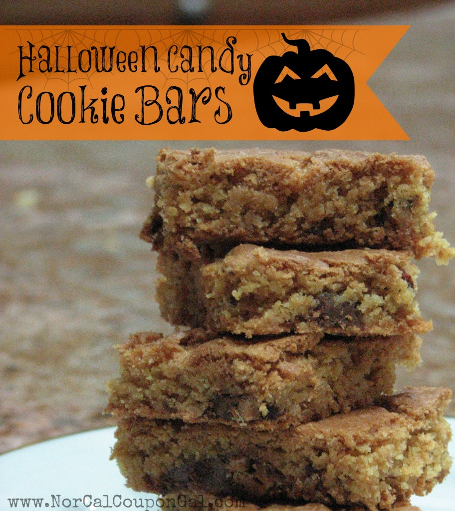 Halloween Candy Cookie Bar Recipe
