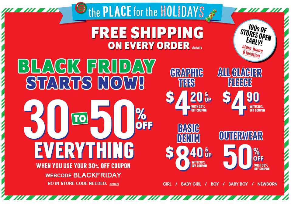 childrens place black friday coupons