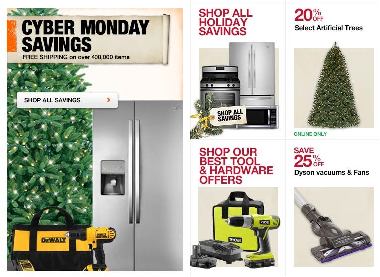 home depot cyber monday