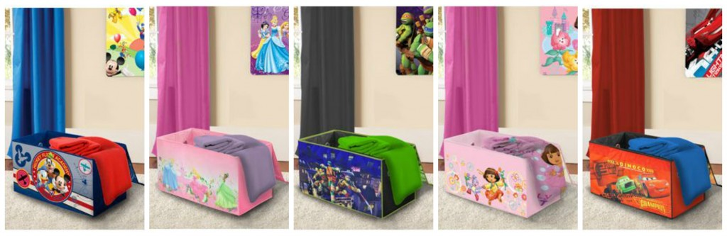 Delightful Nickelodeon Collapsible Storage Trunks