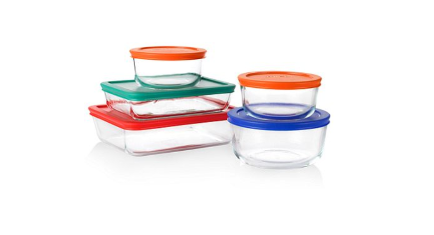 I Love My Pyrex Containers U2013 They Are Some Of The Most Used Items In My  Kitchen. Right Now Macyu0027s Has This Pyrex 10 Piece Food Storage Container  Set ...