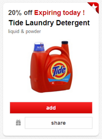 Rare 20 Off Tide Target Cartwheel Discount Valid Today Only