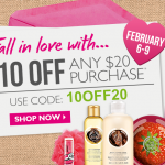 The Body Shop B3G2 Free, B2G1 Free Sale + $10 Off $20 Coupon
