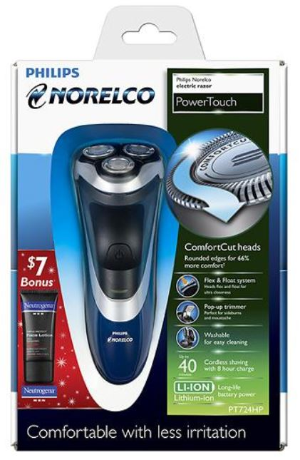 philips norelco powertouch electric razor just reg. Black Bedroom Furniture Sets. Home Design Ideas