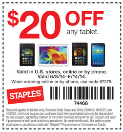 Staples coupon 100 off ipad