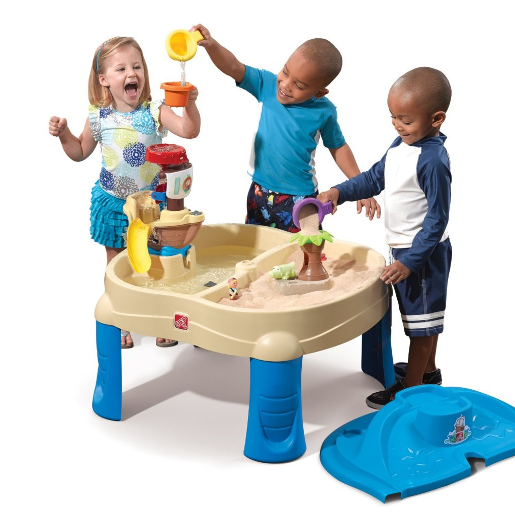 High Seas Adventure Sand Water Table With Umbrella Step2