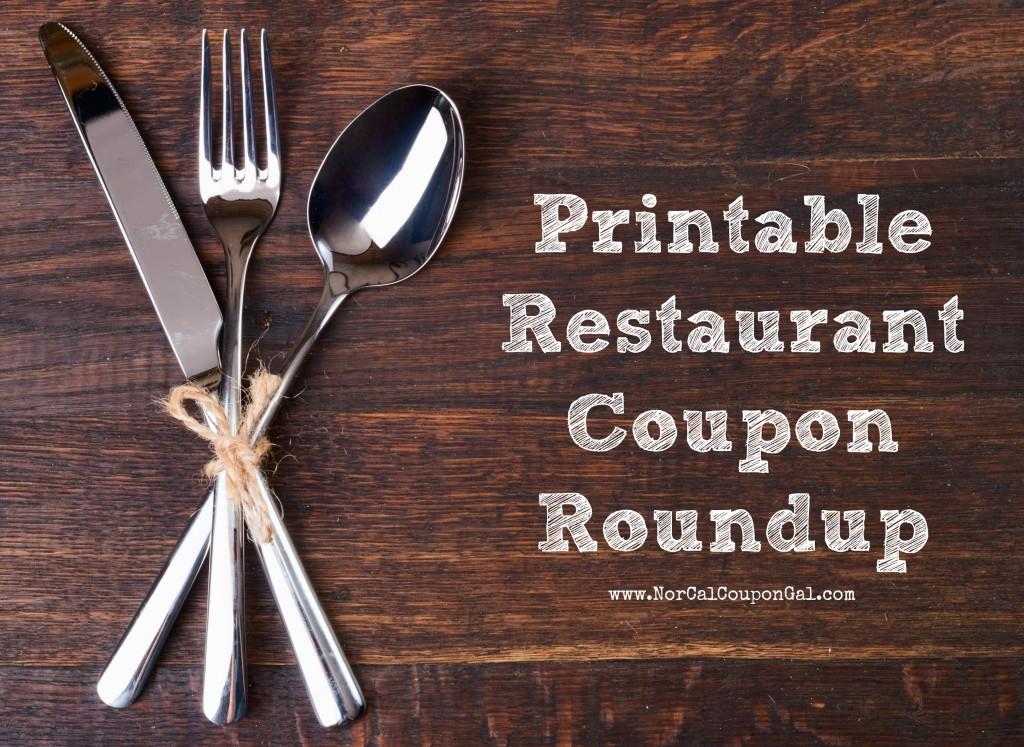 Printable Restaurant Coupon Roundup