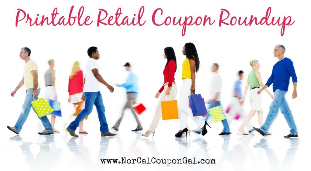 Printable Retail Coupon Roundup