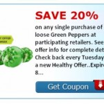 SavingStar Healthy Tuesday - Green Peppers