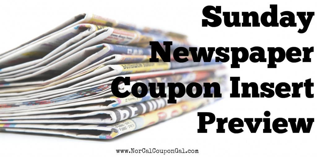 Sunday Newspaper Coupon Insert Preview