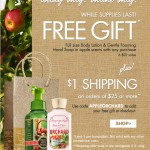 Bath & Body Works – Two FREE Full Size Gifts + $1 Shipping