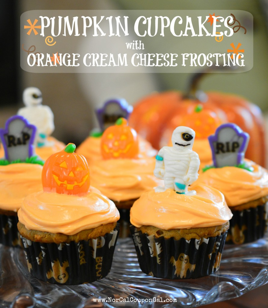... Mondays – Pumpkin Cupcakes With Orange Cream Cheese Frosting Recipe