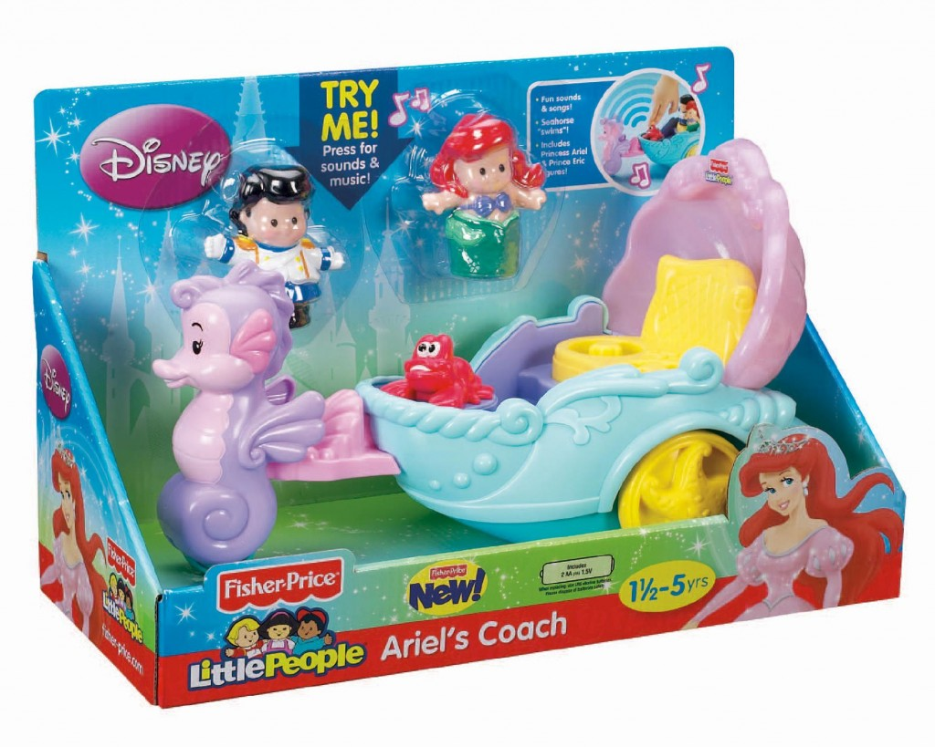 fisher price little people princess ariels coach just 12