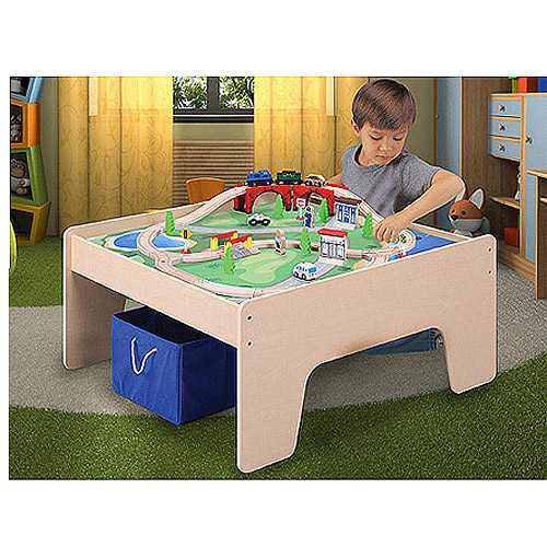 sc 1 st  NorCal Coupon Gal & Wooden Activity Table + 45 Piece Train Set Just $55.07