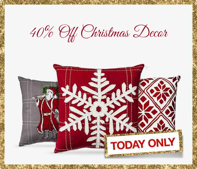 40 Off Christmas Decor Today Only