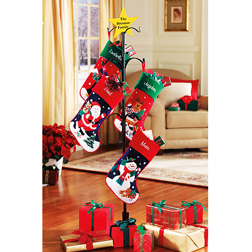 Personalized metal christmas stocking holder just reg