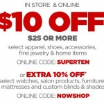 Printable JCPenney Coupon – $10 Off Your $25 Purchase of Select Items