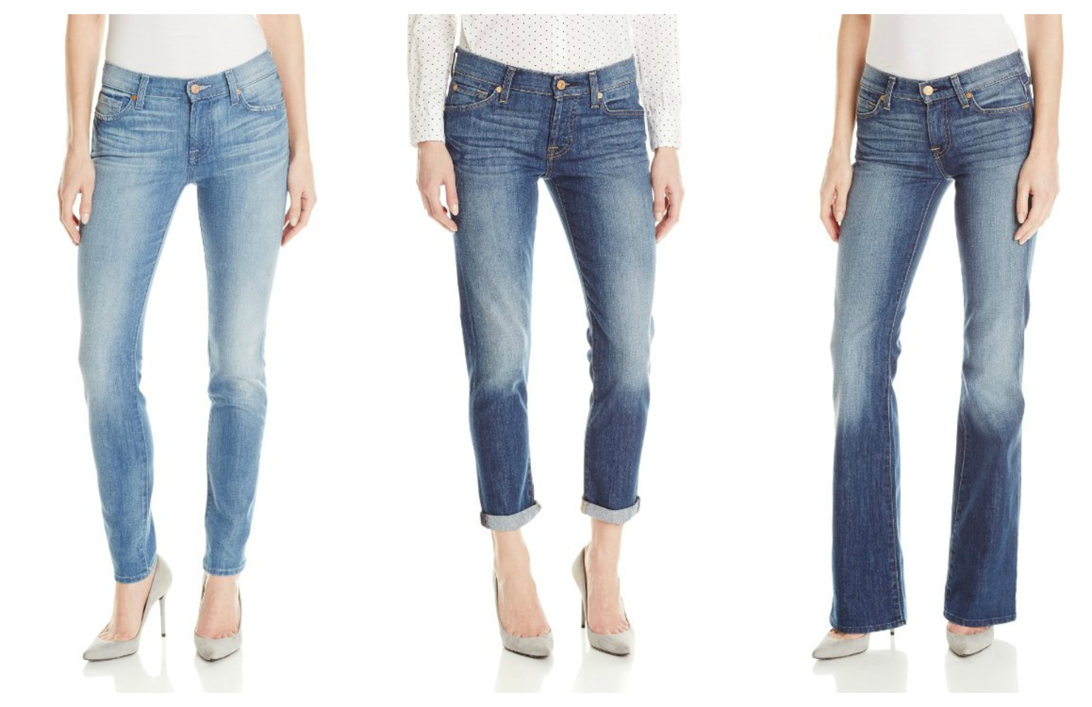 7 For All Mankind is a premium denim retailer, home to the sexiest jean styles and form-fitting clothing. Take home any product from their collection like skinny, boot-cut, straight and boyfriend jeans with zero shipping or return costs.