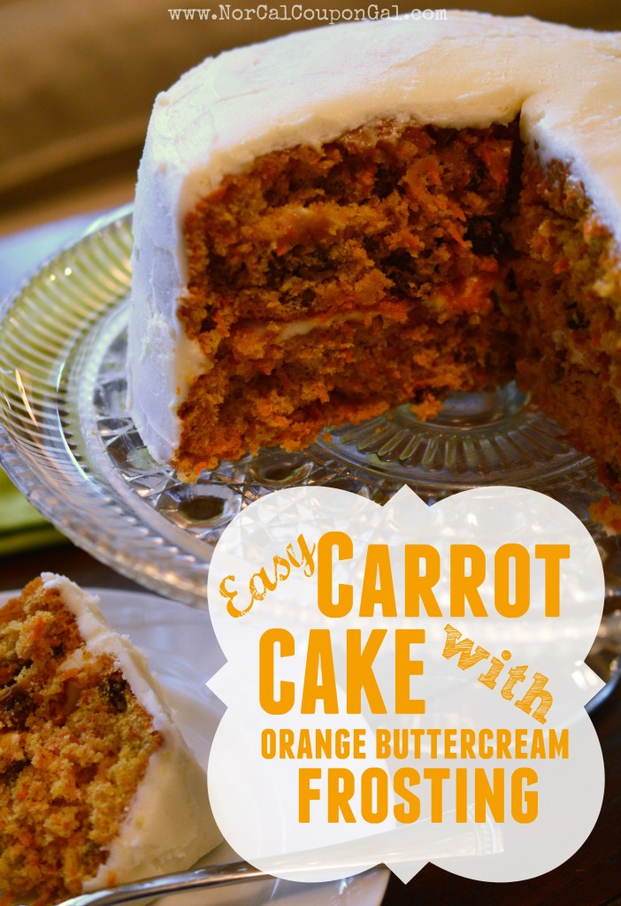 Easy Carrot Cake With Orange Buttercream Frosting