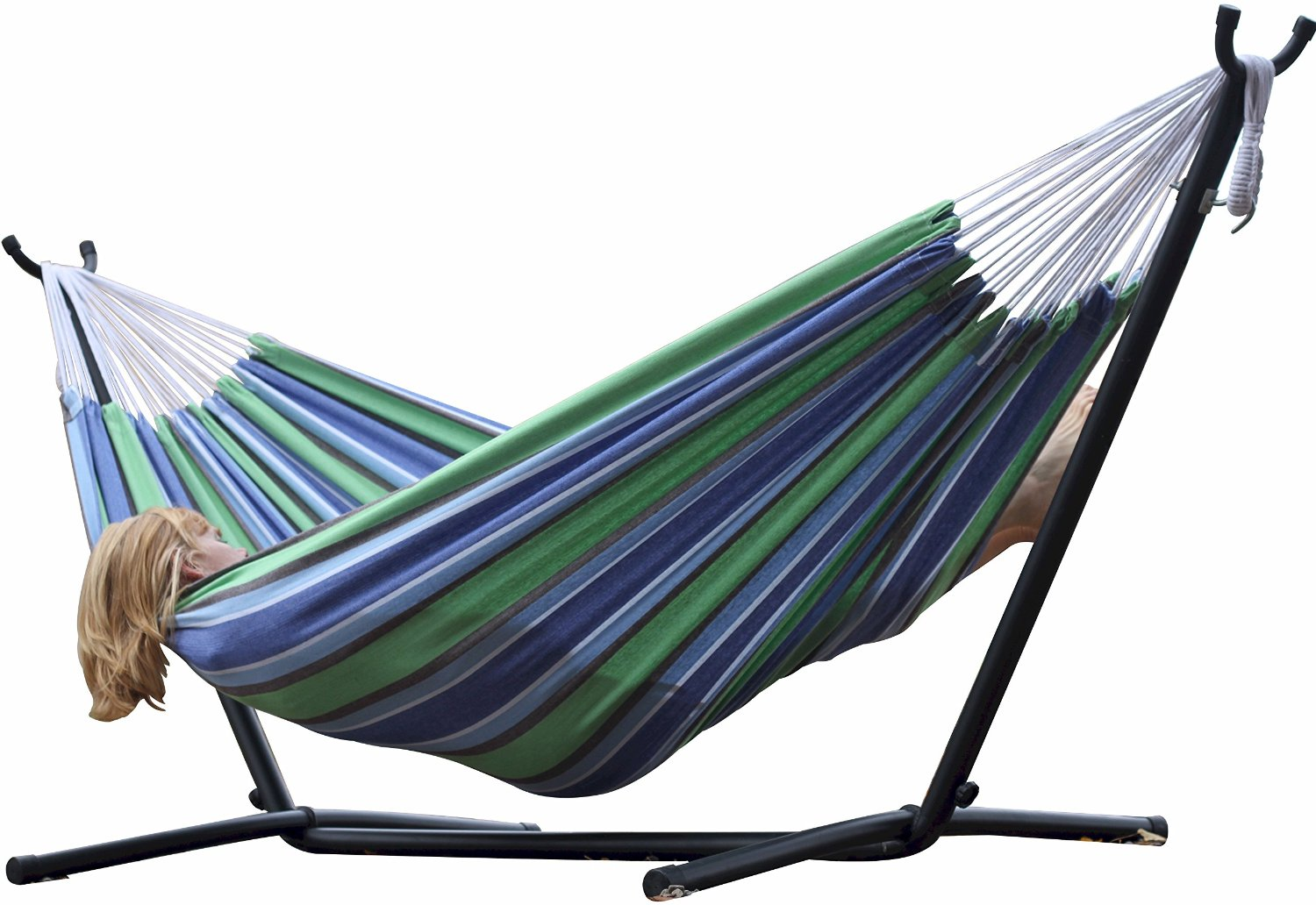 Vivere double hammock with steel stand just reg