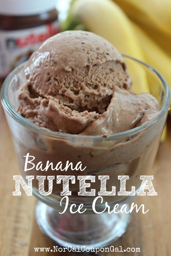 Banana Ice Cream Recipe with Nutella