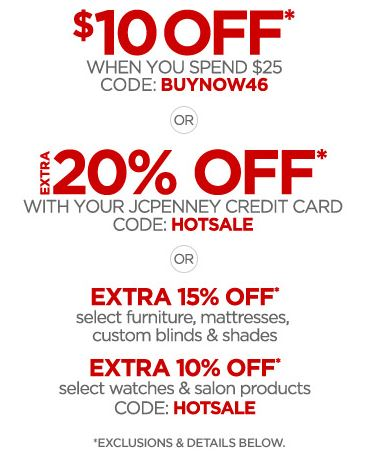 printable jcpenney coupon 10 your 25 purchase of