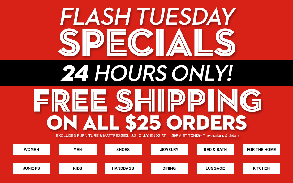 Macy\'s Flash Sale - FREE Shipping On $25+ Orders