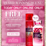 New Bath & Body Works Coupon – FREE A Thousand Wishes Full Size Body Lotion & Fine Fragrance Mist