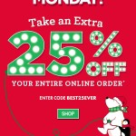Bath & Body Works Cyber Monday Sale – 25% OFF The Entire Store!