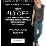 $10 OFF Rock & Republic Jeans – Great Clearance Deals