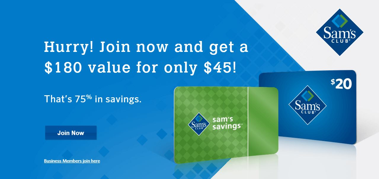 Sams club membership discount 75 off free 20 gift card sams club membership discount colourmoves