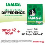 Save On IAMS + New Target Gift Card Offer #IamsDogGiftCardOffer #AD