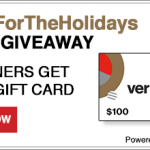 Verizon Wireless $100 Gift Card Giveaway – #VZWFORTHEHOLIDAYS
