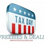 Tax Day Freebies & Deals
