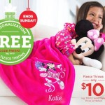 The Disney Store – $10 Fleece Blankets + FREE Personalization Services