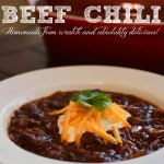 In The Kitchen With Mom Mondays – Beef Chili