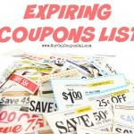 Expiring Coupons List