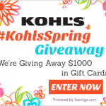 #KohlsSpring $50 Gift Card Giveaway (20 Winners!)