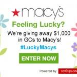 #LuckyMacys Macy's $50 Gift Card Giveaway (20 Winners!)