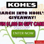 March Into Kohl's $50 Gift Card Giveaway (20 Winners!)