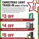 Home Depot Christmas Tree Light Trade-In Program 2015