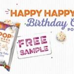 FREE Pop Works & Company Birthday Cake Popcorn Sample