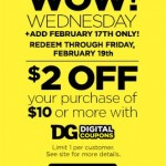 Dollar General $2 Off $10 Purchase Digital Coupon (Today Only!)